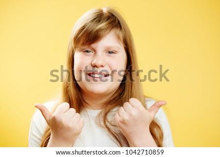 Chubby girls thumbs