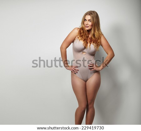 Chubby women in body stockings