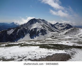 Chubusangaku National Park Snowy mountains