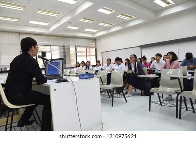 Chulalongkorn University, Bangkok Thailand, March 23, 2018 : The students are study in the classroom.