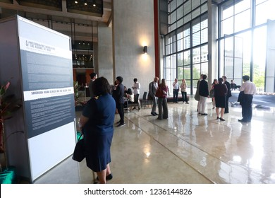Chulalongkorn University, Bangkok Thailand, November 9, 2018 : The people are attending in the autograph exhibition.