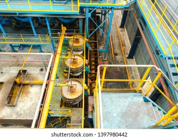 chumphon, Thailand, may 12 2019, Machines that are working within the factory. Oil refining pot in industrial plants