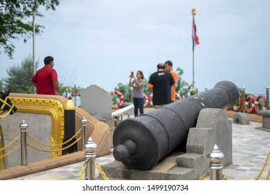 Chumphon, Thailand - September 03, 2019: Prince of Chumphon, father of Royal Thai Navy, new shrine; at Hat Sai Ri beach.Monument of Krom Luang Chumphon Khet Udom Sak. Chumphon,Thailand.viewpoint