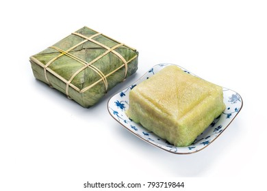Chung cake / Cooked square glutinous rice cake, Vietnamese new year food