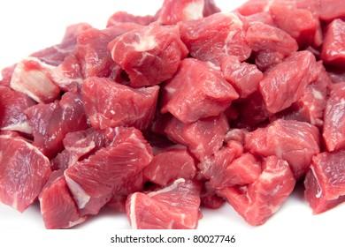 Chunks of lamb meat