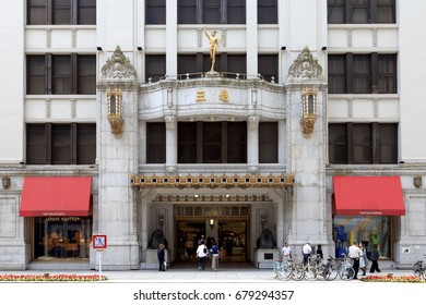 Chuo, Tokyo, Japan - June 10, 2017: The Mitsukoshi Department Store in the Nihonbashi section of Tokyo: Mitsukoshi, Ltd. is an international department store chain with headquarters in Tokyo, Japan.