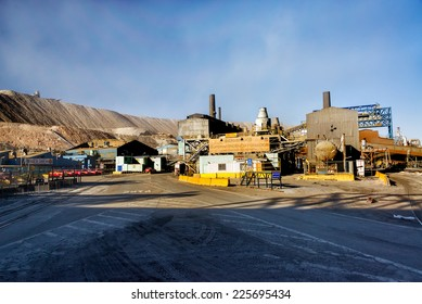 CHUQUICAMATA, CHILE - JULY 1: Facilities to refine the copper from the mine in Chuquicamata, Chile on July 1, 2014