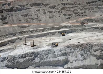 Chuquicamata, the second biggest open pit copper mine in the world, Atacama, Chile