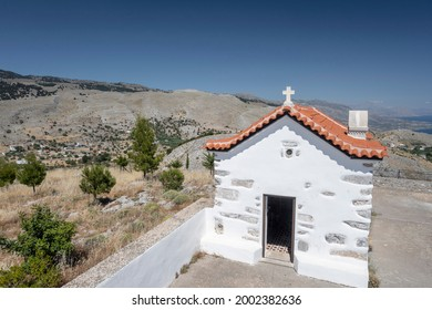 The church agia ekaterini from the village of anopolis, sfakia, south of the island of crete