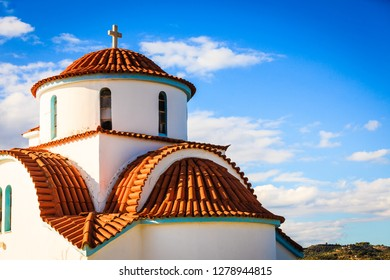Church of Agios Petros, Gythion, Greece. Attractions of the picturesque town of Gythio, Mani.