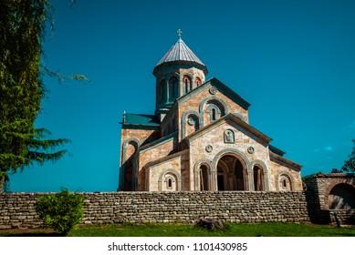 Church in Alazani valley in Georgia, Kakheti, Sighnaghi.