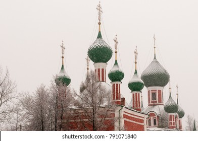 The Church of Alexander Nevsky and the Vladimir Cathedral in Pereslavl-Zalesskiy, Yaroslavl region, Russia