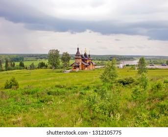 Church of All Saints, in the land of Siberia beamed. Pilgrim way from Verkhoturye to Merkushino. Sverdlovsk region. Russia