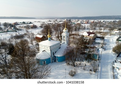 The Church of the Annunciation of Holy Virgin in the village Salkovo, Podolsk district, Moscow region, Russia