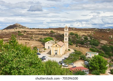 The Church of the Annunciation in Sant Antonino, Corsica Island France