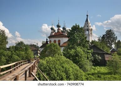 Church of Annunciation in Ustyuzhna. Vologda oblast. Russia