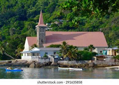 Church in Anse Royale, Mahe, Seychelles