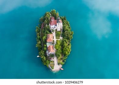 The Church of the Assumption, Bled, Slovenia
