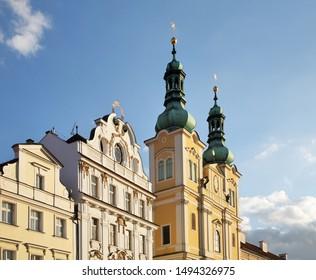 Church of Assumption of Virgin Mary at Large square (Velke namesti) in Hradec Kralove. Czech Republic