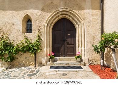 Church of the Assumption of the Virgin Mary in town of Weissenkirchen. Wachau valley, Lower Austria.