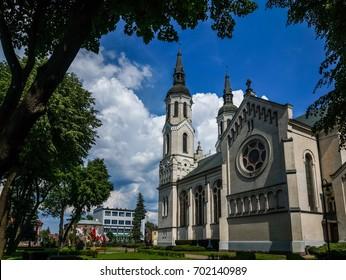 Church in Augustow city, Podlasie, Poland