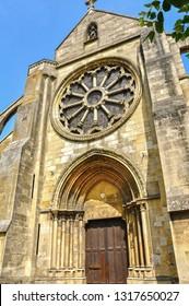 The church of Auvers sur Oise painted by Vincent Van Gogh