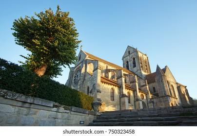 The Church at Auvers sur Oise village