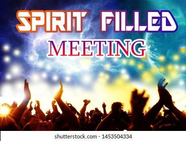 Church background holy spirit meetings