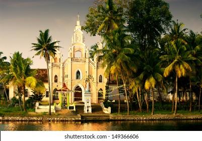 church in the backwaters of kerala