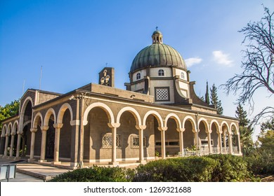 Church of the Beatitudes, a Roman Catholic church located by the Sea of Galilee near Tabgha and Capernaum in Israel