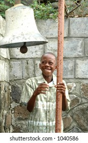 church bell ringer in tropical island