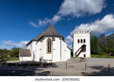 Church and bell tower in Strazky near Spiska Bela, Slovakia