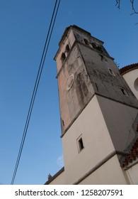 Church bell tower in Veli Losinj (Croatia)