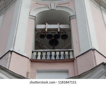 Church bells, a fragment of the facade