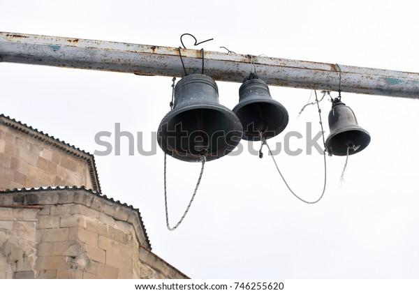 Church bells of the old temple in Georgia,Mtskheta.