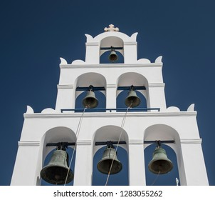 Church Bells on Santorini Island, Cyclades, Greece