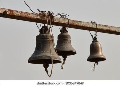 Church bells on steel girder, Georgia