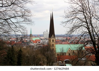 the church in bielefeld germany photographed during a sightseeing tour at a sunny day