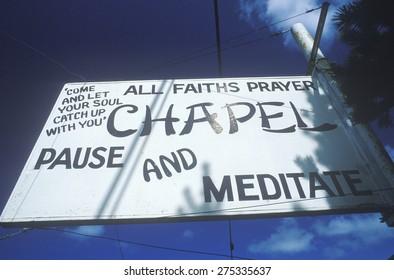 A church billboard in Oregon USA