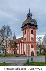 Church of the birth of Saint John the Baptist in Valec, Czech republic