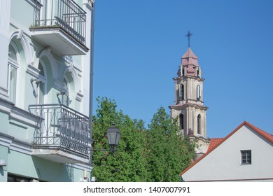 Church of the Blessed Virgin Mary of Consolation in Vilnius, Lithuania. Baroque church built circa 1746-68.