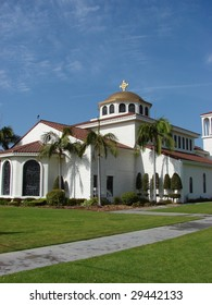 Church With Blue Sky and Green Grass
