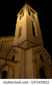 Church in Boppard at night