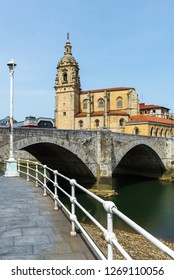 Church and bridge of San Anton, Bilbao, Spain