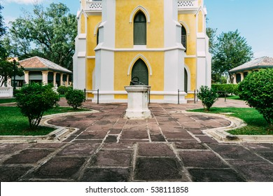 Church Building in the evening in Phra Nakhon Si Ayutthaya Province, Thailand