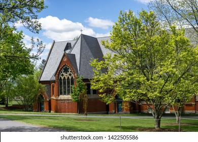 The church building in Ivy League university campus /cornell university