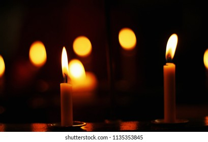 Church candle lights