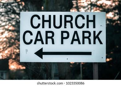 Church Car Park Sign
