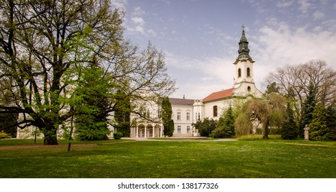 Church and castle with park