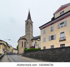 The church in the centre of Belluno. Italy. Europe
